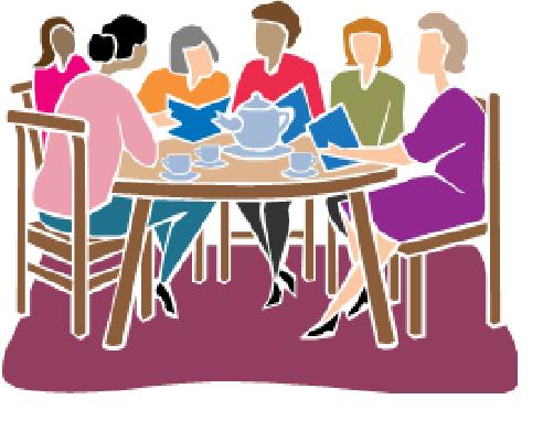 book club at table